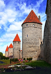Towers' Square in the Old Town of Tallinn Estonia