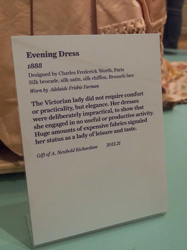 DAR Museum 1888 Evening Dress Tag