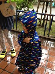 雨の中、ラジオ体操 2013/8
