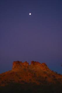 Castle Rock at dusk
