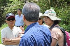 2013年9月4日水規所邀請學者一起現勘水梯田,實地了解水梯田的水資源功能。