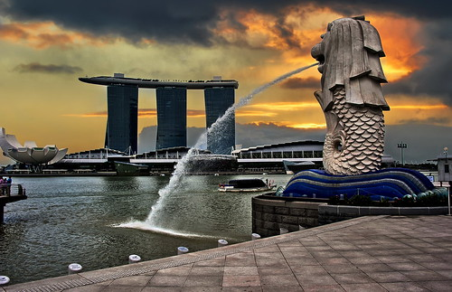 Singapore - The boat on top