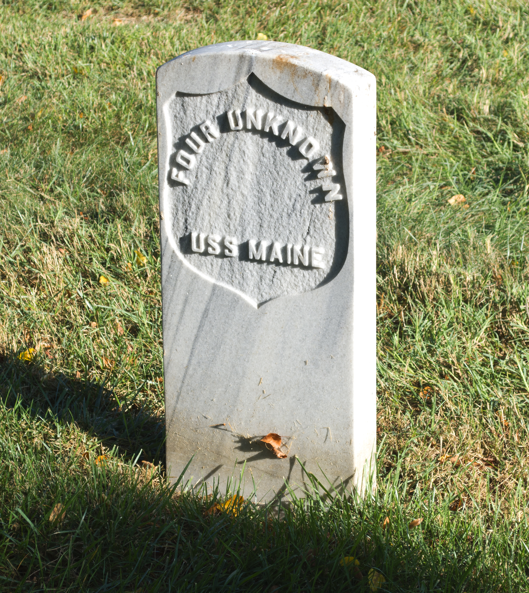unknown grave 03 - USS Maine field of the dead- Arlington National Cemetery - 2013-08-24