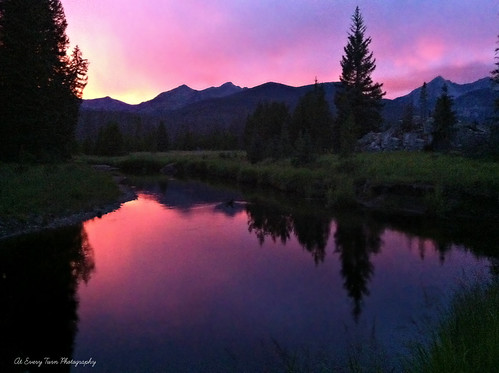 sunset mountain mountains fishing rocky peaceful rockymountainnationalpark
