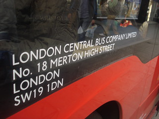 The temporary legals of Evobus Go-Ahead London Central MBK1