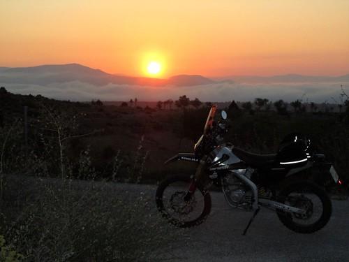 Amanecer en Teruel, camino de Cofrentes