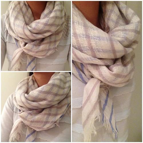 LOFT Multicolored stripe scarf