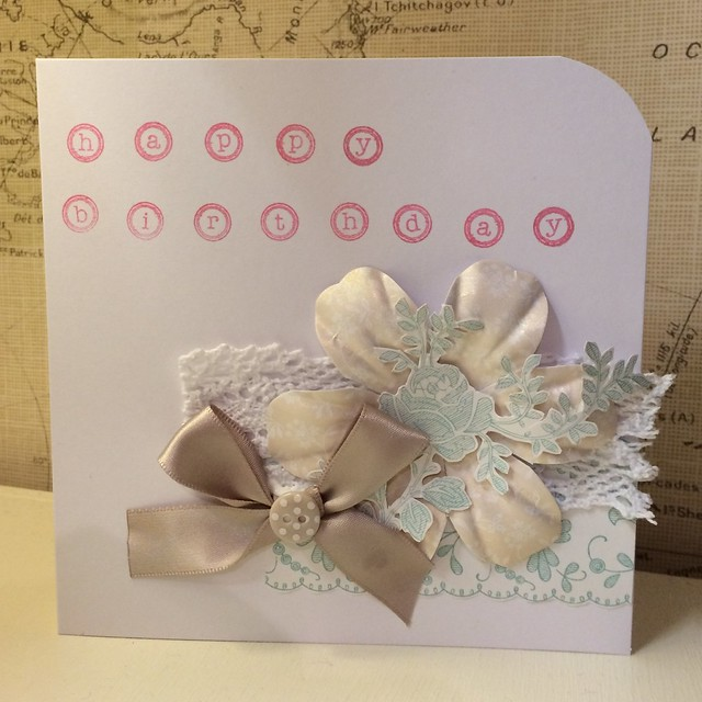 Eau de Nil birthday card