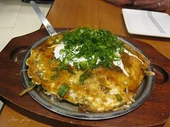 Okonomiyaki dish from Botejyu