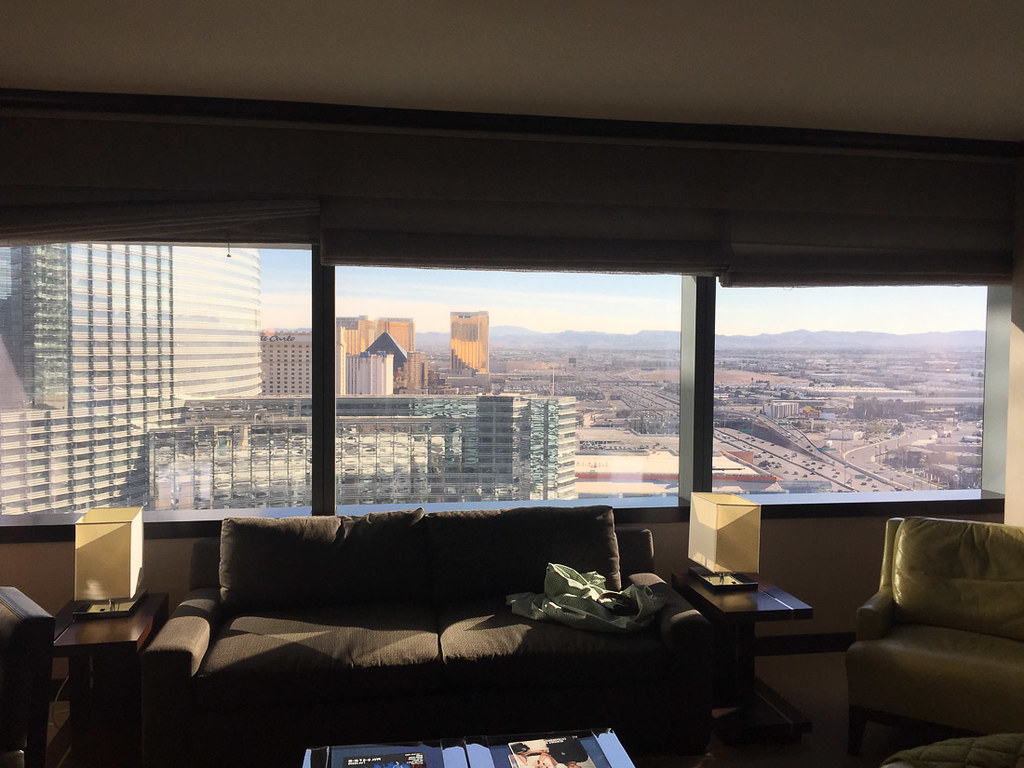View from 31st floor in Deluxe Suite Vdara