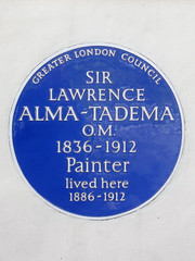 Photo of Lawrence Alma-Tadema blue plaque