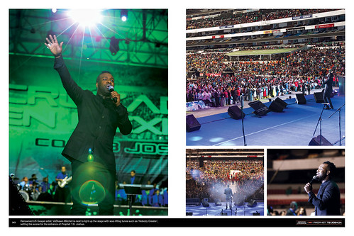 Renowned US Gospel artist, VaShawn Mitchell is next to light up the stage with soul-lifting tunes such as 'Nobody Greater', setting the scene for the entrance of Prophet T.B. Joshua.