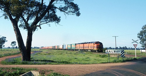 CLP8 and CLP17, on 6SA4, Quadrialla, Stockinbingal to Parkes Line, NSW, 29th September, 2001.