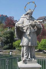Der heilige Nepomuk auf der Rheinbrücke,Laufenburg