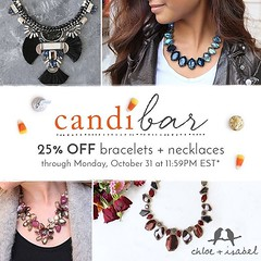 Here's a spooky thought: missing our #candibar — 25% OFF bestselling necklaces + bracelets. Luckily, there's still time to scare up some sweet savings up on my boutique now!  www.chloeandisabel.com/boutique/chriscintron #jewelrylovers✨ #sale #jew
