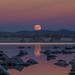 Mono Lake Super Moon Rise by Jeffrey Sullivan