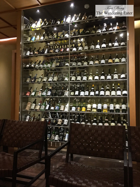 Wine cellar at the waiting reception room