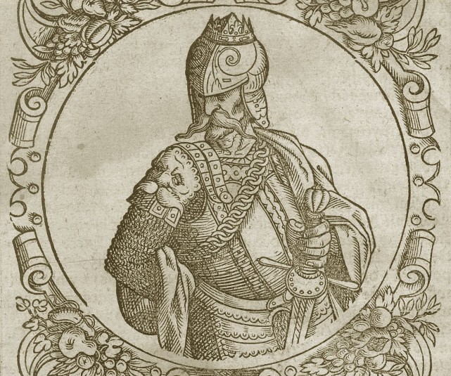 Depiction of Gediminas, from Sarmatiae Europeae descriptio published in 1578