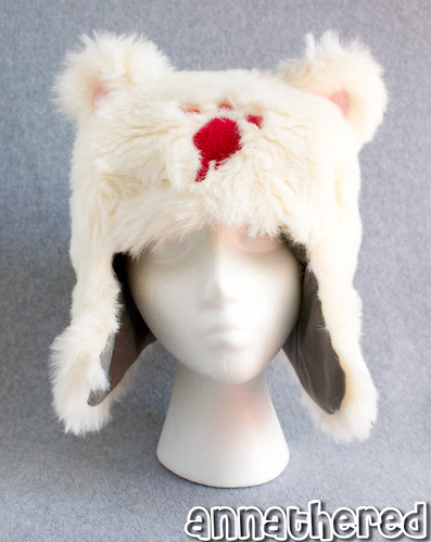 Ushanka hat prototype - fake fur ver.2 w/ cotton lining