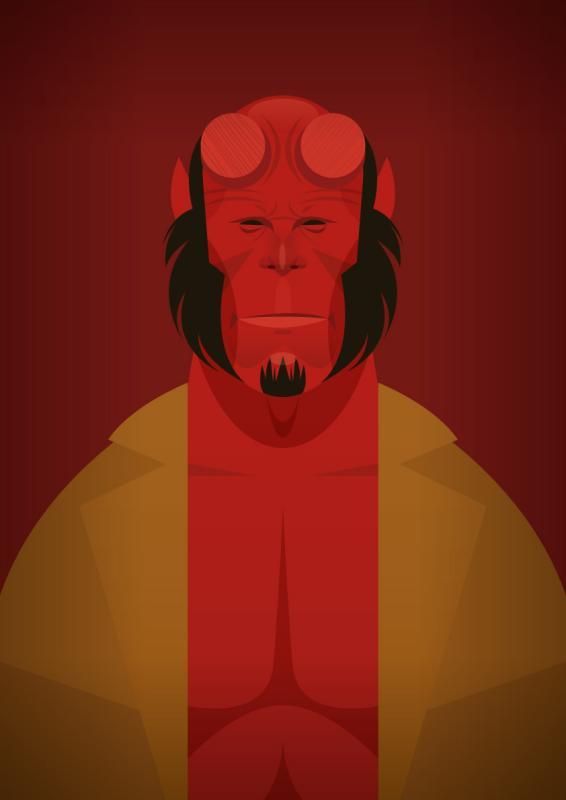 Face da Cultura Pop por Stanley Chow - hellboy