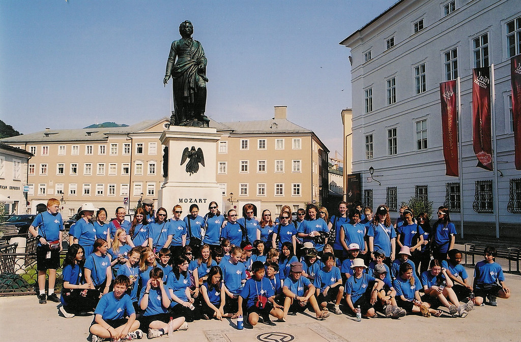Toronto Children's Chorus in Mozart's Square in Salzburg, Austria
