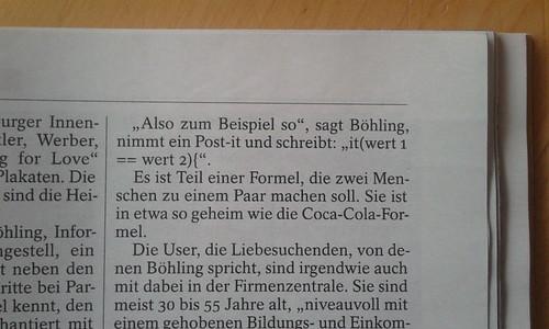 DER SPIEGEL 14/2012, Syntax Error im Artikel