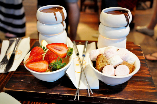 Max Brenner Chocolate Bar Southbank: Chocolate Fondue for Two