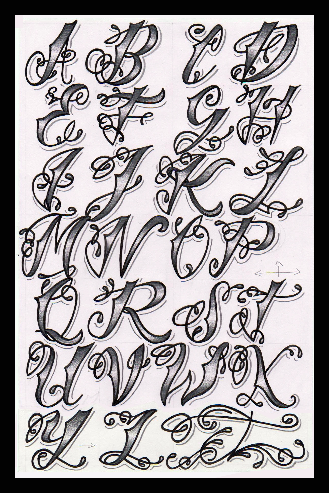 Displaying (20) Gallery Images For Cholo Writing Alphabet...