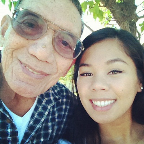 Me and my Grandpa! Going to the healing mass