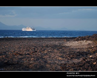 Ferry to Lanzarote (Corralejo, Fuerteventura, Canary Islands, Spain)