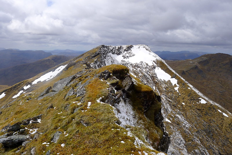 Looking back to Lurg Mhor