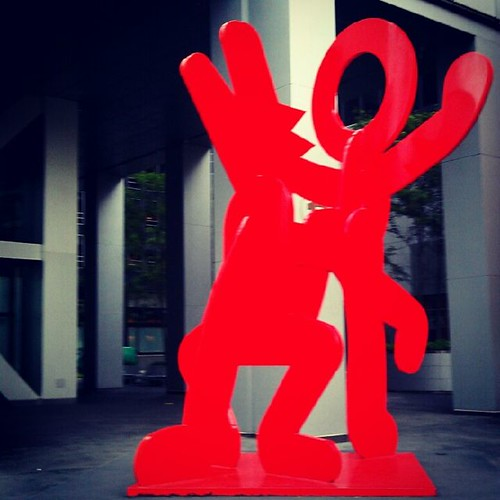 Keith Haring Sculpture View 1
