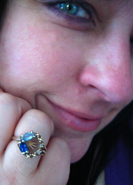 Aquamarine Sapphire And Diamond Ring