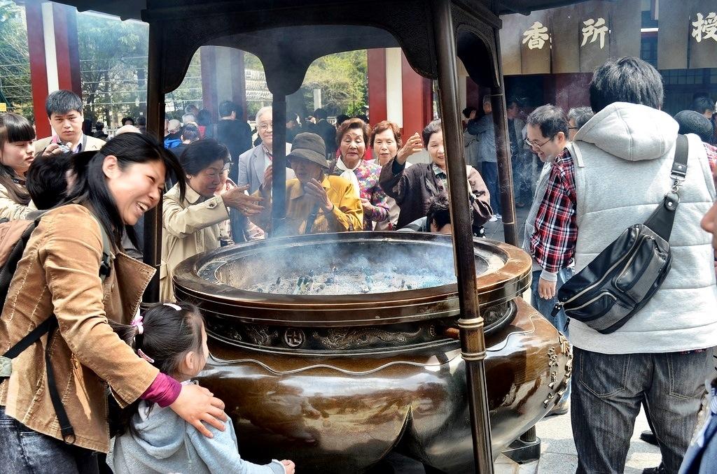 Asakusa temple incense burner, Tokyo