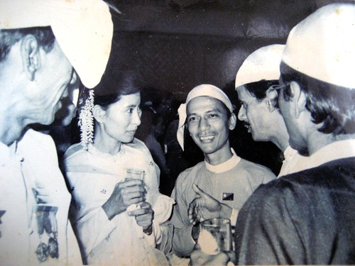 Daw Aung San Suu Kyi and U Thein Han in 1990