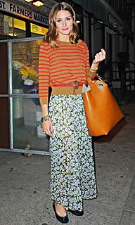 Olivia Palermo Clashing Prints Celebrity Style Women's Fashion (2)