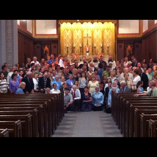 Fr. Michael Sheehan, FPO, after his Thanksgiving Mass with friends and family