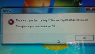 Operating system cannot run