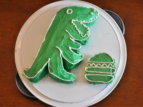 Shake Shack Dinosaur birthday cake