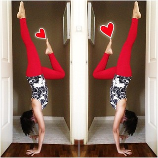 now, let's see, how many more doors do i have left in here... #yoga #handstand #inversion #heart #doorseries #maytheforcebewithyogis #yogawithhana #okbye