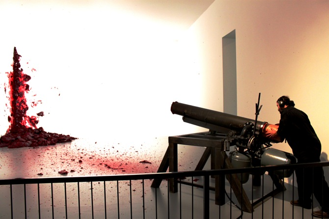 Shooting into the Corner, 2008-2009, Mixed Media