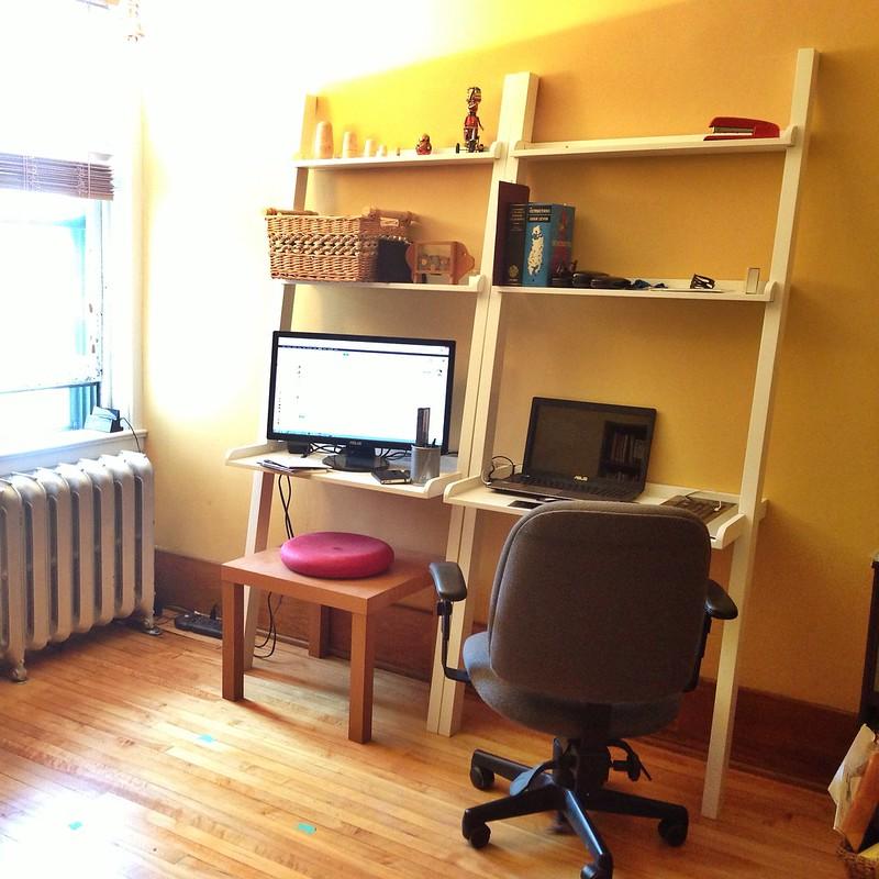 my new ladder desks
