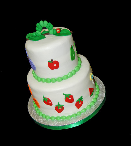 Very Hungry Caterpillar Baby Shower cake
