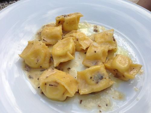 Fagotelli, parmigiano fonduta, chopped truffles