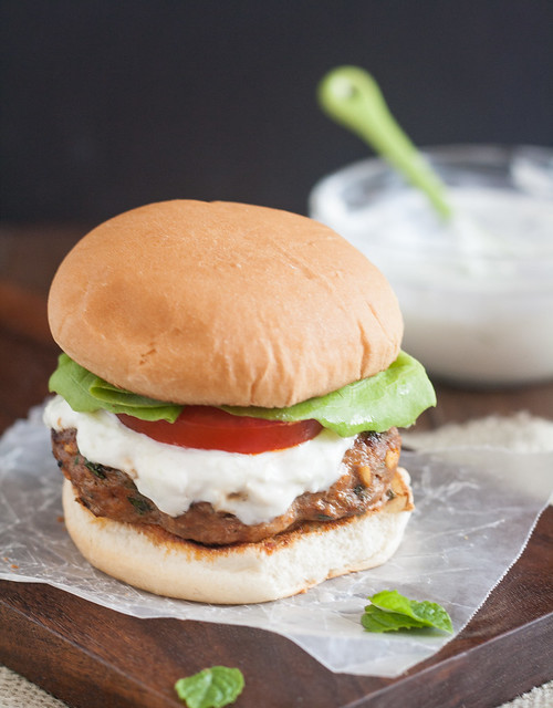 Middle Eastern Turkey Burgers with Tzatziki Sauce | Tracey's Culinary ...