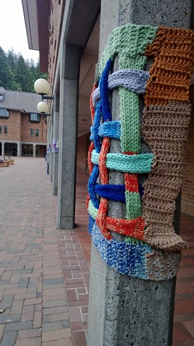 Yarn bombing at WWU #anwg