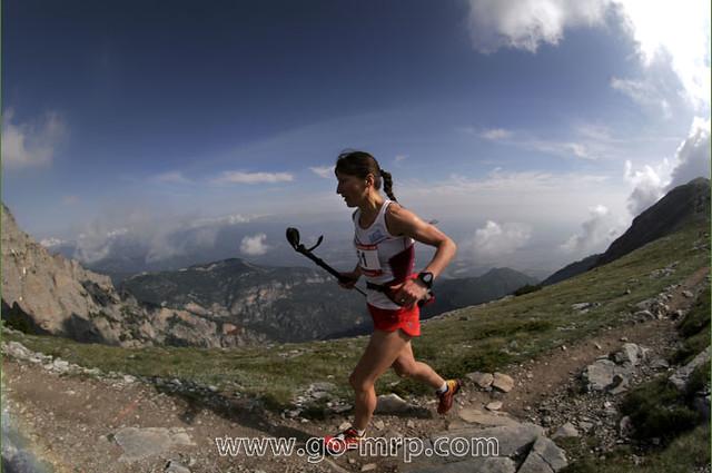 Η Ναταλία Παπουνίδου στον Olympus Marathon 2010