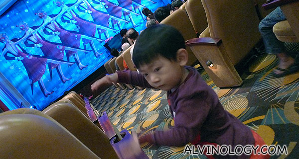 Asher getting excited to catch a performance again for the second night