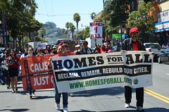 Causa Justa housing march in the mission