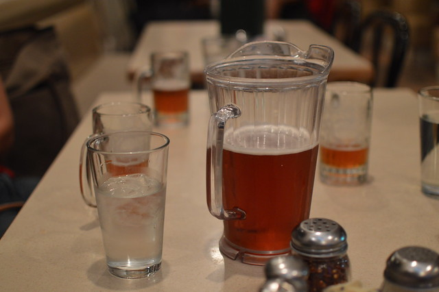 Mammoth Brewing Co pitcher at Upper Crust